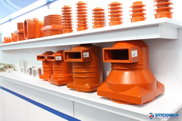 Insulators made by JSC «PO Eltechnika» at the stand of «Power and Electrical Industry Exhibition 2014»