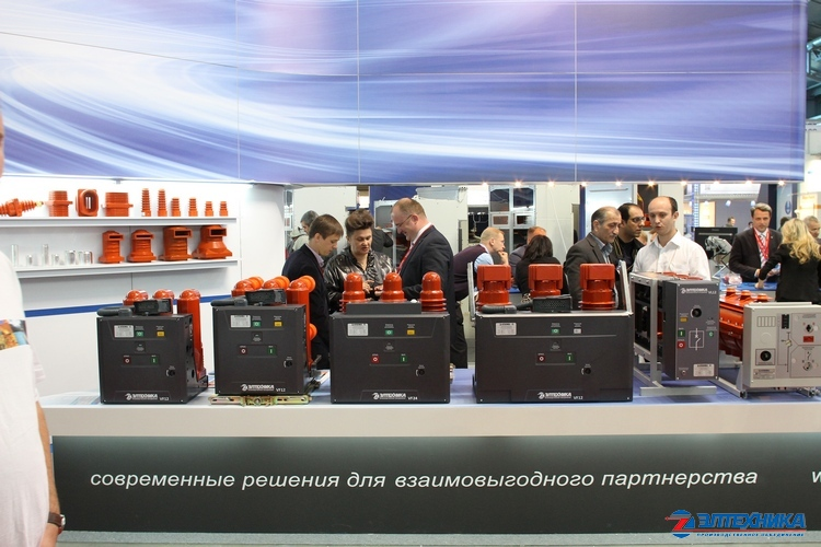 Vacuum circuit breakers made by JSC «PO Eltechnika» at the stand of «Power and Electrical Industry Exhibition 2014»